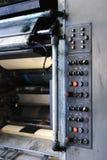Panel de control en la tipografía Imagenes de archivo