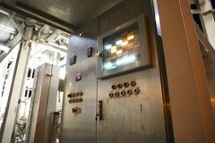 Panel de control industrial imagen de archivo