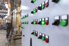 Panel de control industrial foto de archivo libre de regalías