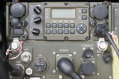 Panel de control militar de comunicación Fotos de archivo libres de regalías