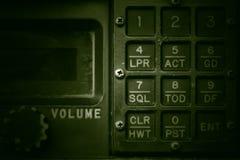 Panel de control militar de comunicación fotos de archivo