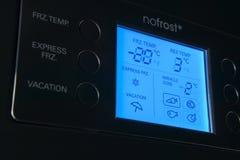 Panel de control moderno de exhibición del refrigerador Imagen de archivo libre de regalías
