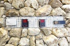 Panel de control moderno del baño de vapor Imágenes de archivo libres de regalías