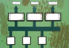 Panel de control quebrado, grunge Foto de archivo