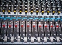 Panel de control sano o consola de mezcla fotos de archivo libres de regalías