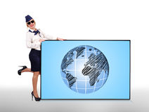 Panel with earth Royalty Free Stock Photography