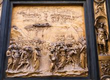 Panel on east door of the Baptistery in Florence, Italy Royalty Free Stock Photo