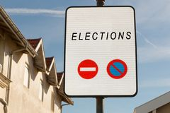 Panel for election direction right or left your choice Royalty Free Stock Photography