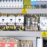 Panel with  electrical equipment Royalty Free Stock Photo