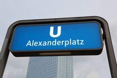 Entrance of the underground station called ALEXANDERPLATZ in Ber