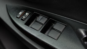 Panel för bildörr i Toyota Yaris ecobil Arkivbilder