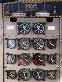 panel för flygplankontrollskärm Arkivfoton