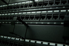 panel för kommunikationsnätverk Arkivbild