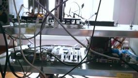 Panel för kugge för nätverksserver med hårddiskar i a stock video