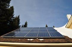 Panel 2 för sol- samlare Arkivfoton