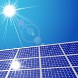 Panel för solljus och för sol- cell Arkivbild