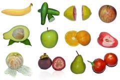 Panel för tropisk frukt Arkivfoto
