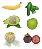 Panel för tropisk frukt Arkivbilder