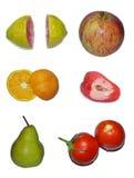 Panel för tropisk frukt Fotografering för Bildbyråer