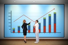 Panel with graph Stock Photography