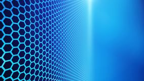Panel of hexagons, technology abstract hexagons background. With copy space, 3d illustration Stock Image