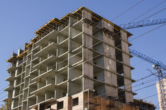 Panel house under construction Royalty Free Stock Photography