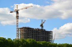 Panel house under construction in Moscow Russia Stock Image