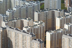 Panel houses in Moscow stock photos