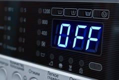 panel kontrolny przycisk maszyny pranie Zdjęcie Stock