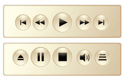 Panel for media player. Vector illustration Royalty Free Stock Images