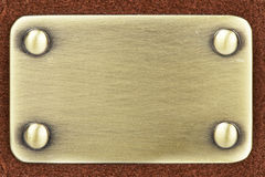 Panel of metal brushed Royalty Free Stock Photos