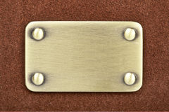 Panel of metal brushed Stock Photo