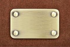 Panel of metal brushed Stock Photo