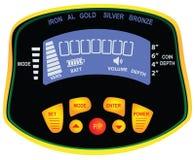Panel metal detector treasure hunter. Vector illustration Stock Photography