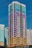 Panel multiroom, mång--färgade hus Royaltyfria Foton