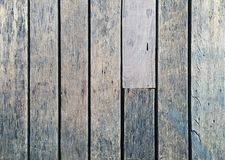Panel old wooden floor with grooves. Top view old panel wooden floor surface has been used for a long time royalty free stock images