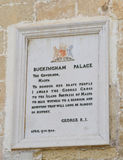 Panel on the Palace of the Grand Masters in Valletta. Commemorating the award of George Cross in 1942 Stock Photography