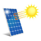 Panel photovoltaic. Photovoltaic panel exposed to sunlight Royalty Free Stock Photos