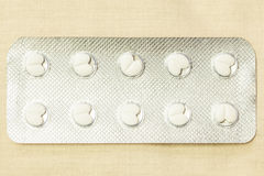 Panel of pills Stock Images