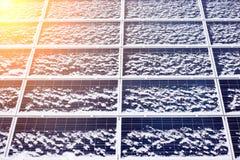 Panel słoneczny alternatywnej energii wyposażenie zdjęcia royalty free