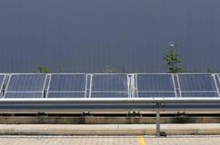 Panel słoneczny dla energetyczny zbierać Zdjęcia Royalty Free