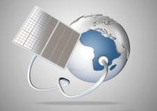 Panel słoneczny dostaw władza od słońca Afryka Pojęcie dla g Obraz Stock