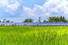 Panel słoneczny ekologiczna władza Zdjęcie Royalty Free