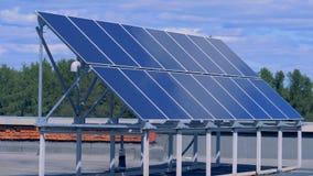 Panel słoneczny instalacja lokalizować na dachu budynek zbiory
