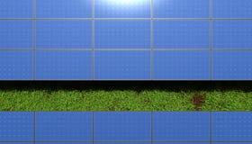 Panel słoneczny nad trawą Fotografia Stock