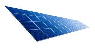 Panel słoneczny odizolowywający na bielu zdjęcia stock