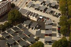 Panel Słoneczny - parking obrazy stock