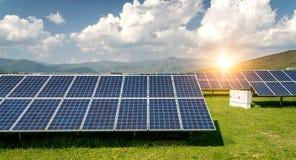 Panel słoneczny, photovoltaic, alternatywny elektryczności źródło, obraz royalty free