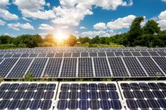 Panel słoneczny, photovoltaic, alternatywny elektryczności źródło, obrazy royalty free
