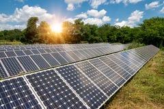Panel słoneczny, photovoltaic, alternatywny elektryczności źródło, obrazy stock